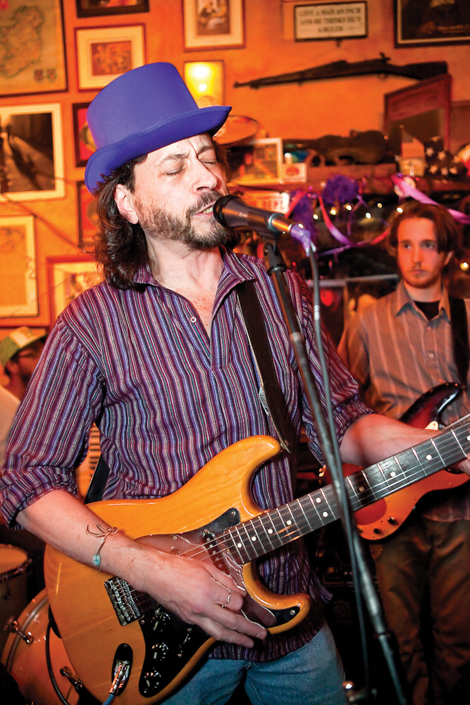 Jeremy Bar-Illan, founder of the Purple Hat Foundation, performs with his band Jeremy's Revolution at An Beal Bocht Café in 2013. The next Purple Hat Foundation benefit concert takes place April 21.