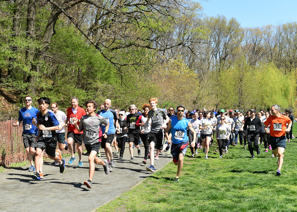 Participants run in the Healthy Minds, Healthy Bodies 5K last year at Van Cortlandt Park. Now in its ninth year, the 5K is a fundraising effort to improve services at Mosaic Mental Health.