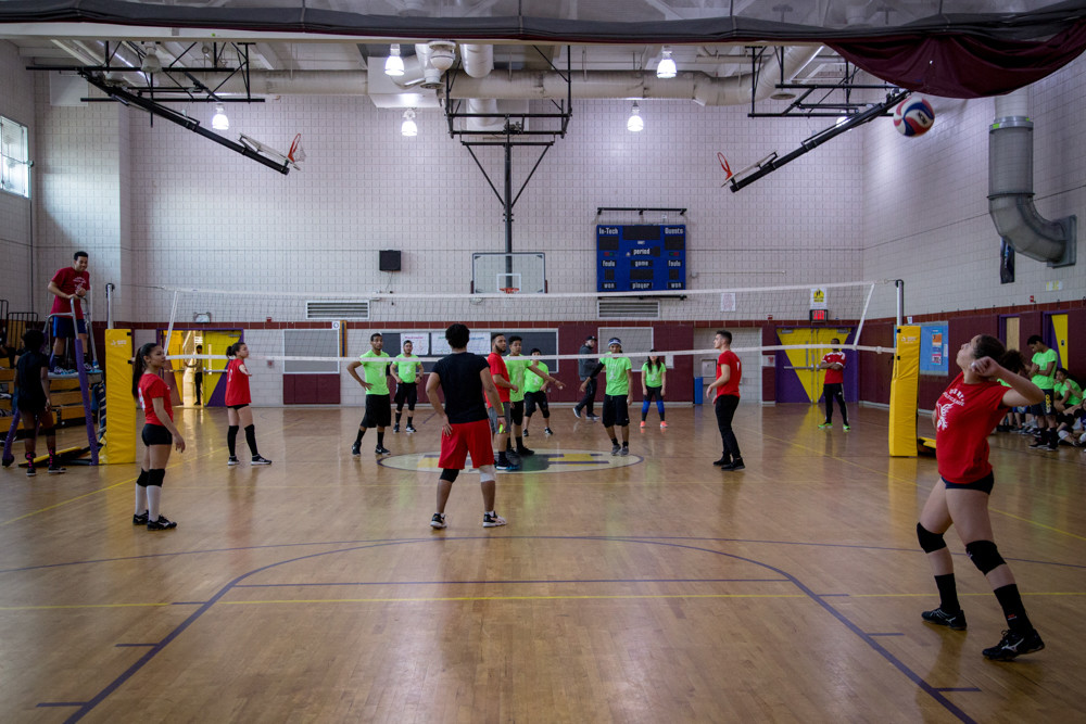 Volleyball is the current sport taught and played by the United Chaplains of New York State Athletic League at IN-Tech High School, continuing for the rest of spring for free.