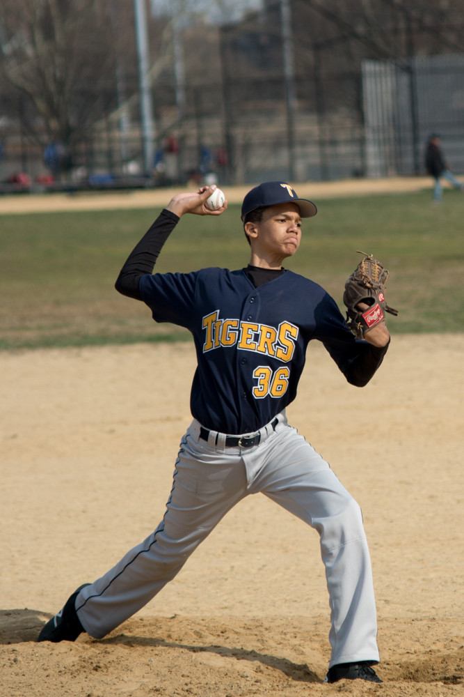 Riverdale/Kingsbridge Academy sophomore Brandon Gomez allowed two runs in his two innings of work in the Tigers' 13-7 loss to Columbus.