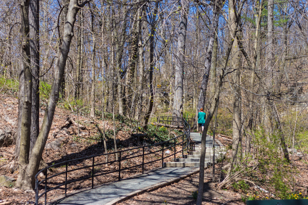 Opened in 1882 and named in 1940, Brust Park features a pathway that connects Manhattan College with Fieldston. Volunteers gathered in the park to revitalize the area last weekend.