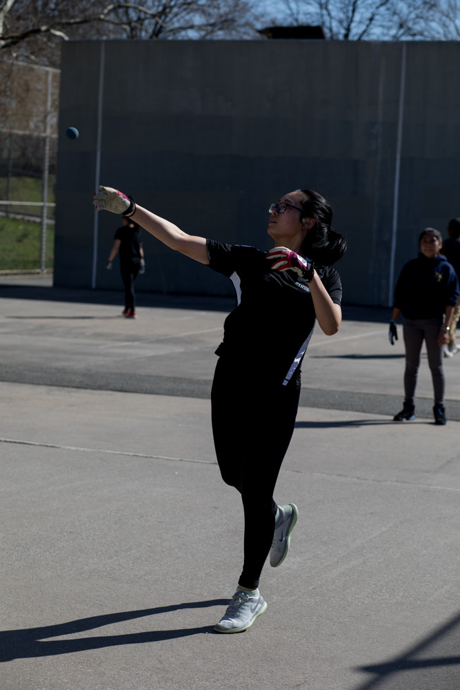 Bronx Science first-singles standout Hellen Zhang has never tasted defeat in the regular season in her four years with the Wolverines girls handball team.