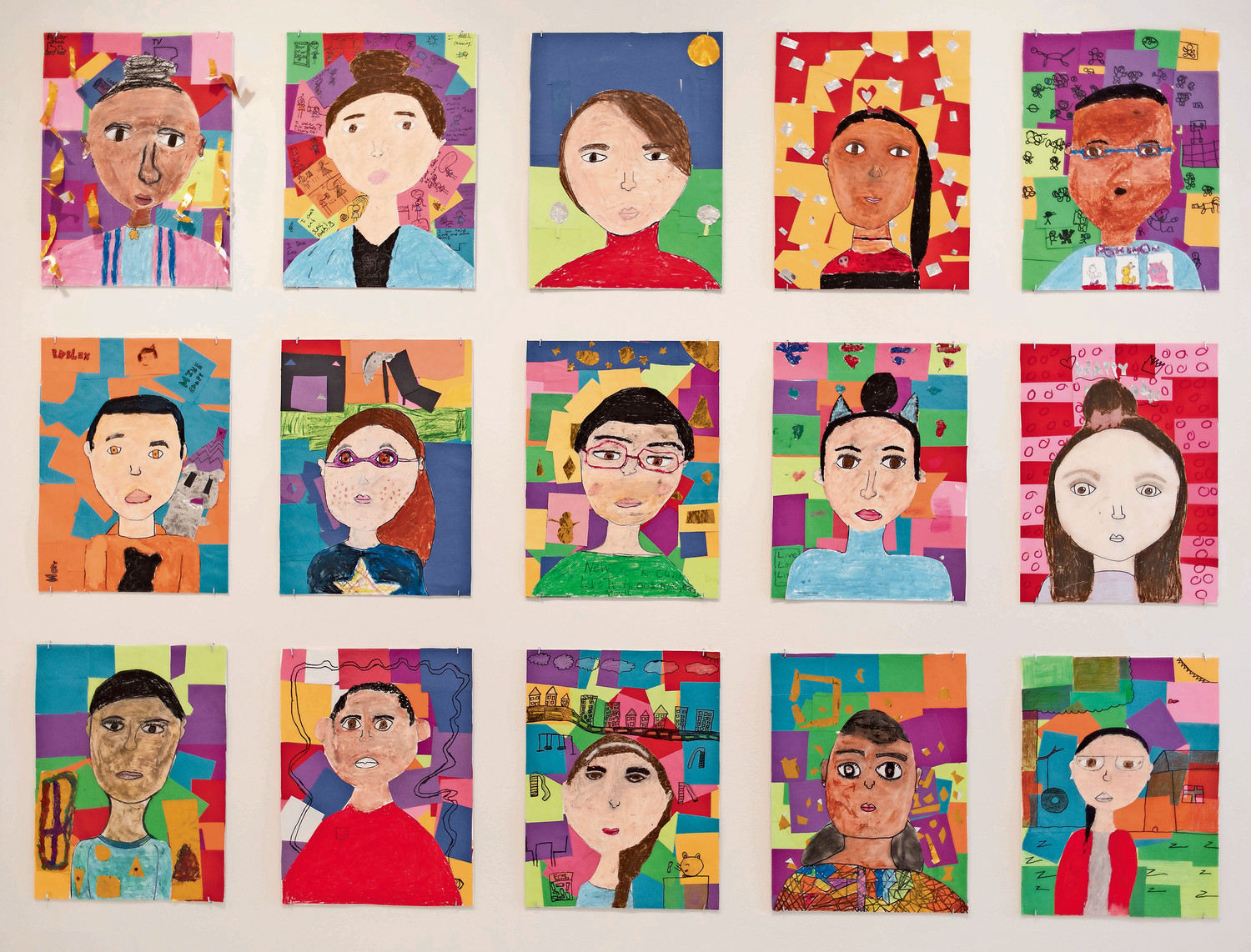 With artists like Frida Kahlo and Vincent van Gogh as inspiration, fourth-grade students at P.S. 86 created self-portraits that spoke to their personality and interests. They are part of the group exhibition 'A Year with Children 2018,' which is one display at the Guggenheim Museum until June 13.