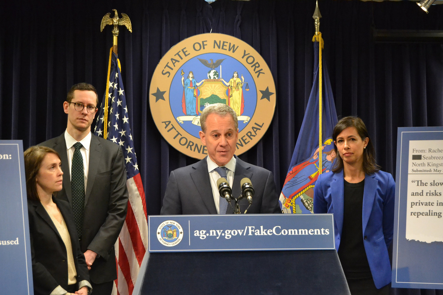 Eric Schneiderman, a former state senator who represented parts of Riverdale and Marble Hill, resigned his office of state attorney general effective May 8.