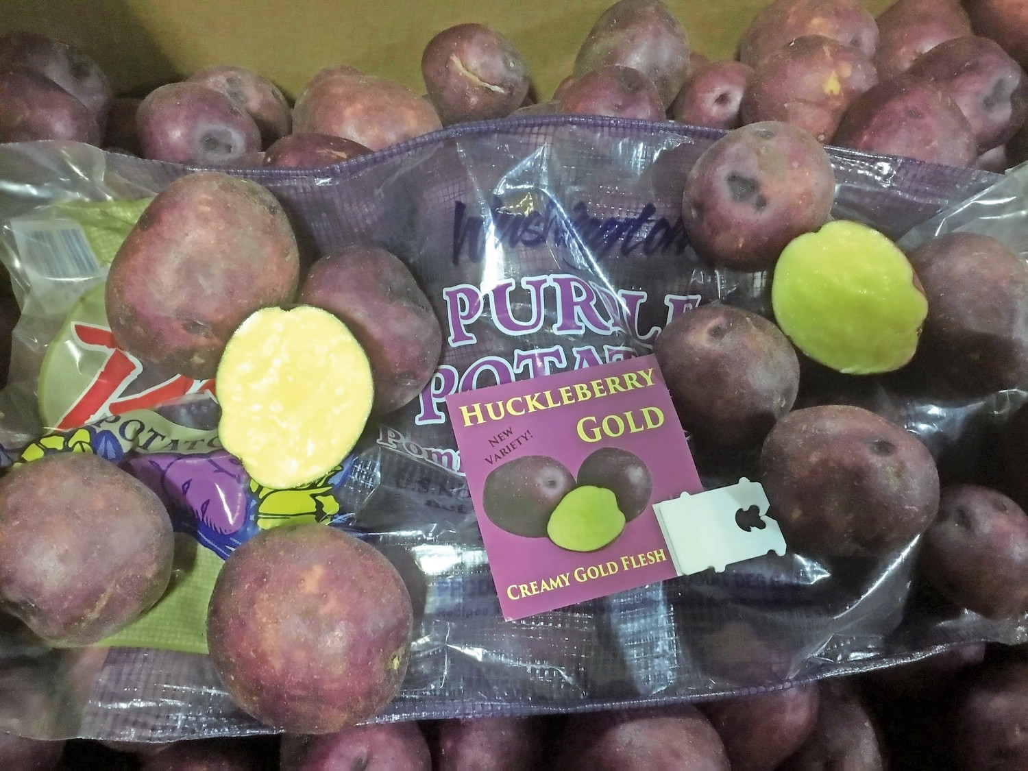 Have you ever imagined eating purple potatoes? Well, now you can, including this Huckleberry Gold variety from Race-West Co., of Summit, Pennsylvania.