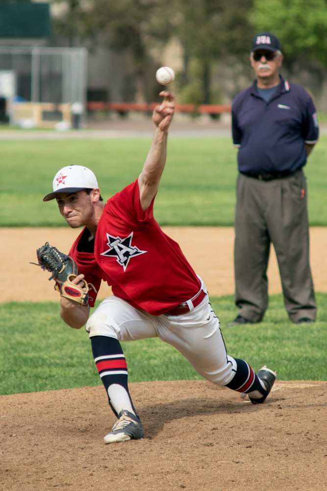 American Studies' lefthander Casey Press struck out seven and allowed just two hits, but was the hard-luck loser in a 3-2 Columbus victory.