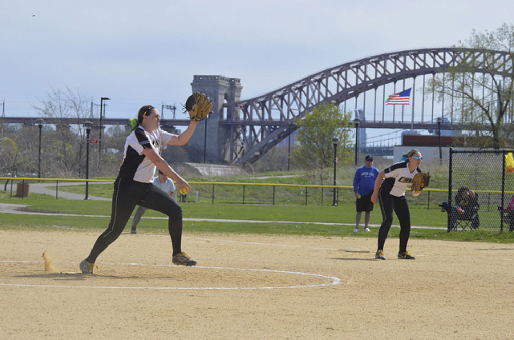 It's hard to determine where College of Mount Saint Vincent's Rachel Heizer was more dominant — on the mound where she logged 11 wins with 91 strikeouts, or as a hitter after leading the Skyline Conference in doubles and RBIs.