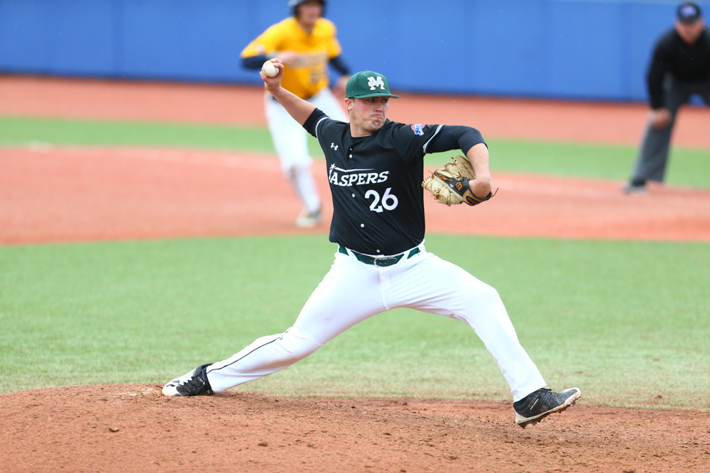 Sophomore righthander T.J. Stuart picked up 10 saves for the Jaspers this season, an all-time record at Manhattan.