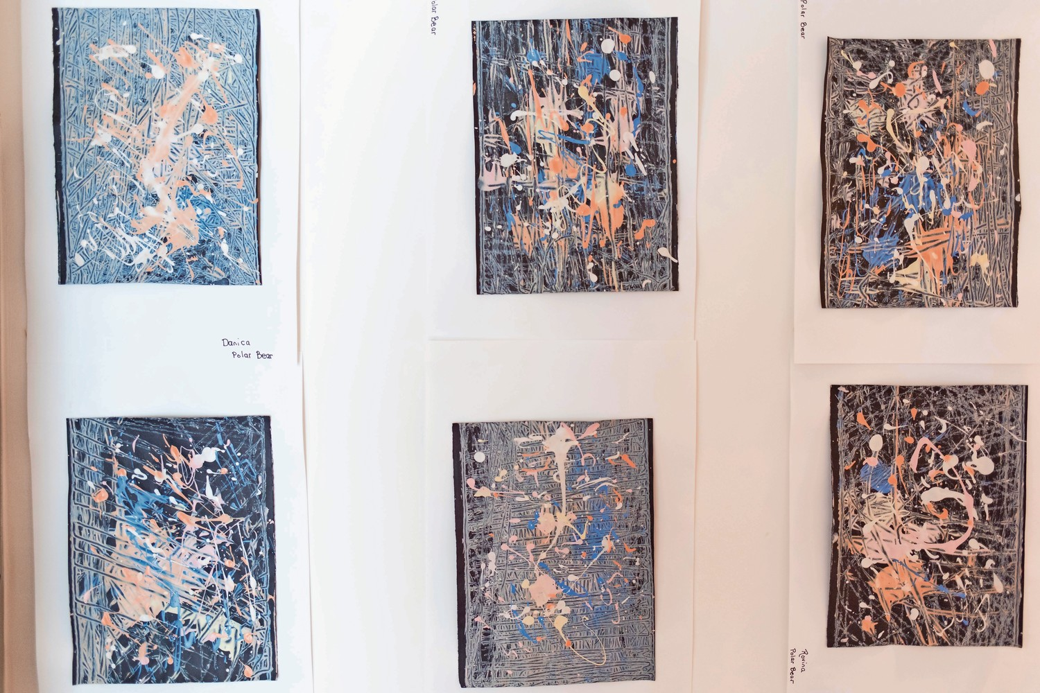 The painter Jackson Pollock was a primary inspiration for students at Bedrock Preschool. Students incorporated Pollock's drip painting technique into their own work, which is on display in the school's annual art gala.