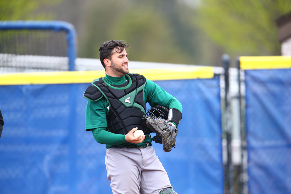 Manhattan's Fabian Peña will look to one day unseat Giants All-Star catcher Buster Posey after the Manhattan College catcher was selected by San Francisco in last week's Major League Baseball draft.