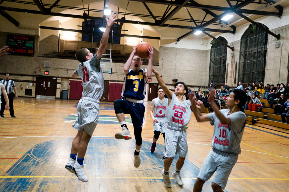Riverdale/Kingsbridge Academy's Will Feldman won't hit the road this fall. Instead, the Tigers' three-point sharpshooter will stay home to attend Lehman College.