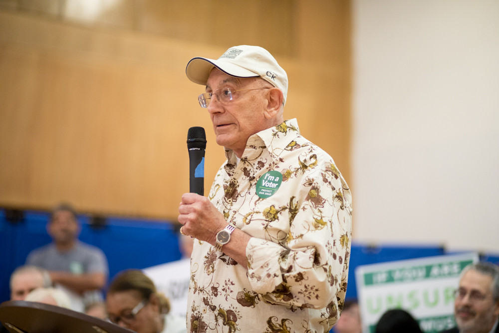 John Spinelli, 84, North Riverdale resident of more than half a century, said he could not afford to live in the continuing care retirement community Hebrew Home at Riverdale wants to build on Palisade Avenue. Community Board 8 is expected to finally vote on the proposal next Monday.
