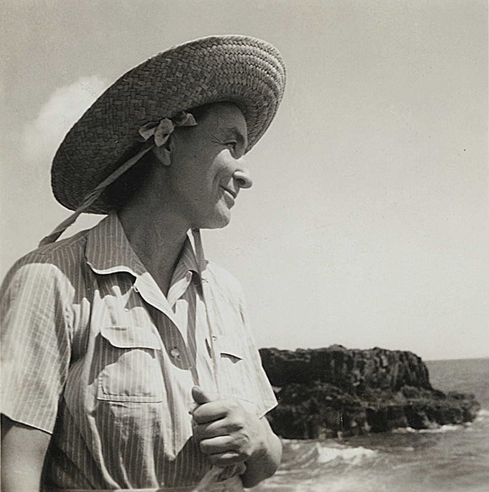 Georgia O'Keeffe in Hawaii in 1939.