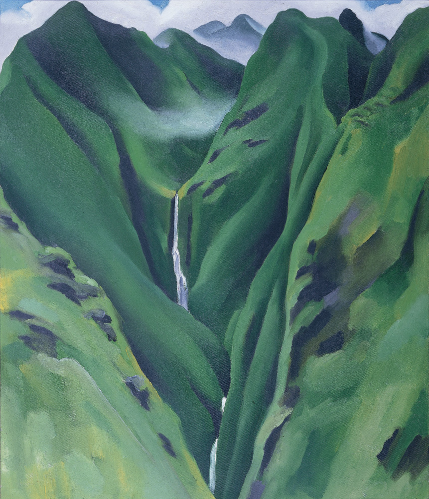 During her nine-week trip to Hawaii in 1939, Georgia O'Keeffe discovered a waterfall in Maui. This discovery, among other natural wonders, are displayed in the New York Botanical Gardens' 'Georgia O'Keeffe: Visions of Hawai'i,' on display through Oct. 28.