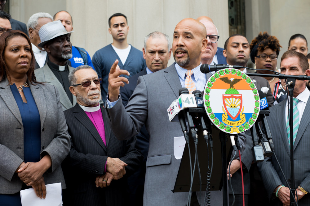 Bronx borough president Ruben Diaz Jr., blasted the Trump administration's 'zero tolerance' immigration policy that reportedly has separated more than 2,300 children from their parents. Last Friday's prayer vigil came after learning some of those children are being housed in the Bronx.