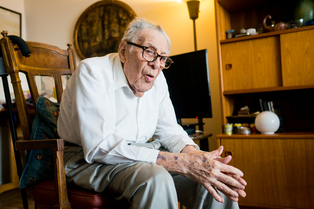 'Getting to 102, I don't recommend it,' Irving Ladimer jokingly said from his apartment earlier this year. Ladimer was an active member of Community Board 8 as well as a long-time advocate for his fellow senior citizens. He died July 3 at 102.