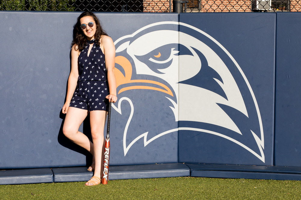 Former Fieldston star Phoebe May carried a big stick in her four-year career with the Eagles softball program, leading them to the state title twice.