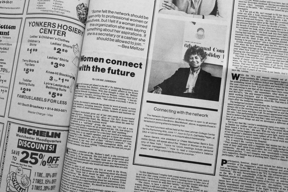 Bea Meltzer was certainly a woman to watch in the May 29, 1980 edition of The Riverdale Press — one of hundreds of news reports Meltzer would appear in over the years.