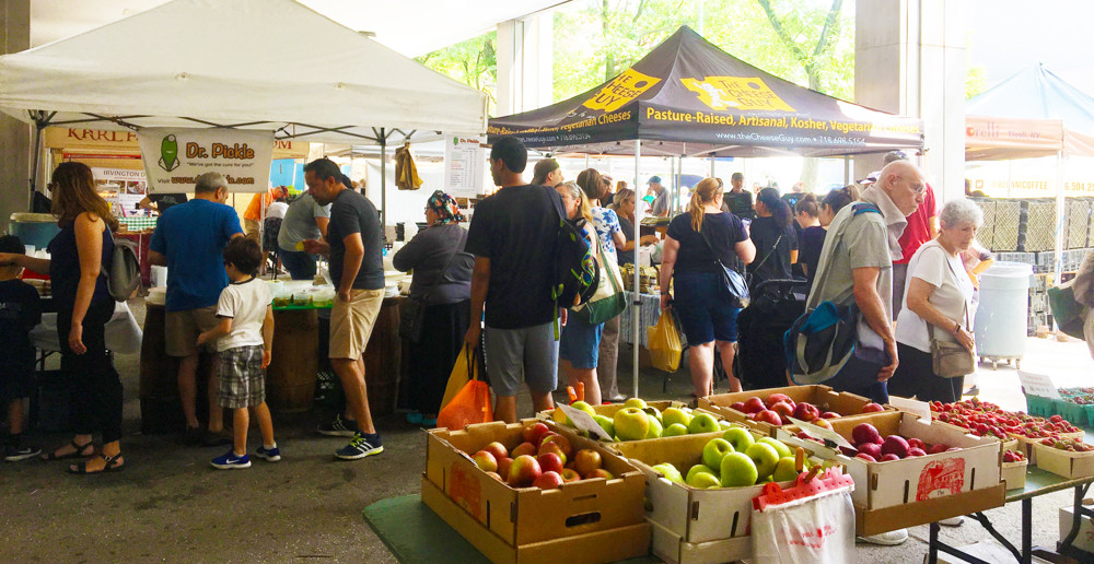 The Riverdale Y's Sunday Market draws big crowds with fresh, locally grown produce. There also are vendors present who sell non-food items like jewelry at the market, which takes place every Sunday through Nov. 18.