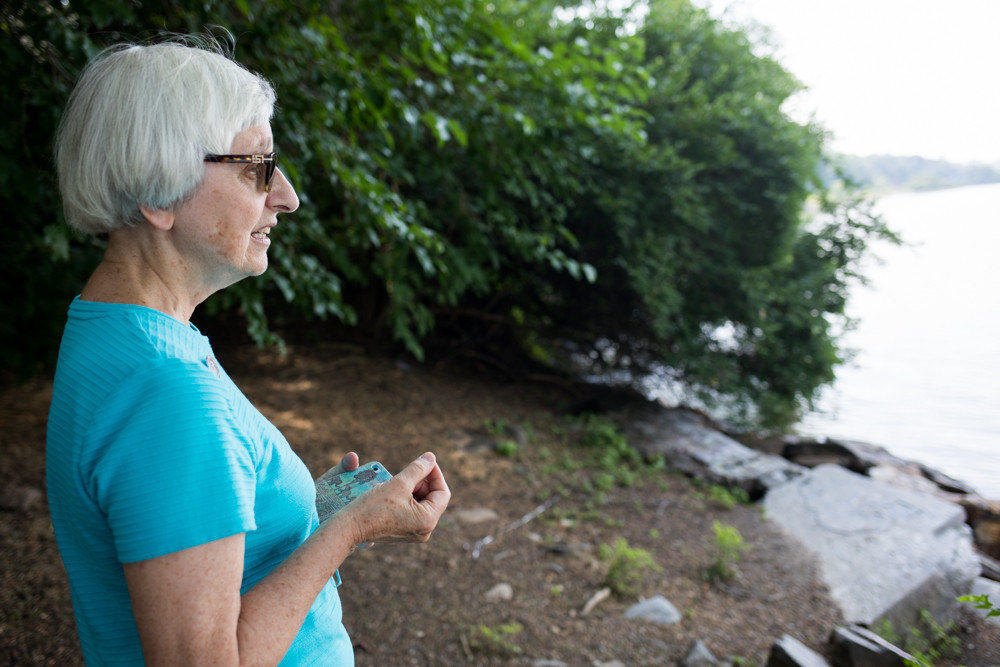 Carol De Angelo, who works with Sisters of Charity of New York, fears giant in-water storm surge barriers the U.S. Army Corps of Engineers might build in New York Harbor could strangle the life out of the Hudson River.