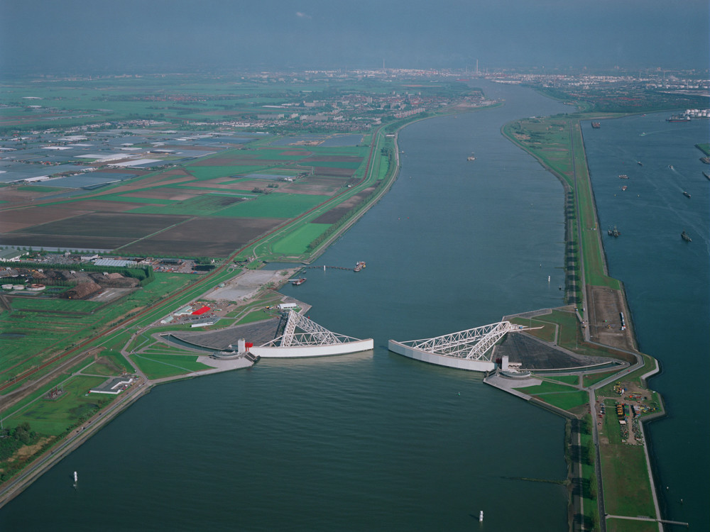 No other flood barrier in the world has larger moveable parts than the Maeslantkering storm surge barrier near Rotterdam in the Netherlands, according to the Dutch Ministry of Infrastructure and Water Management. The U.S. Army Corps of Engineers is considering proposals involving massive in-water storm surge barriers in New York Harbor some environmentalists claim could pose an existential threat to the Hudson River and negatively affect communities living near its shores from Manhattan to Troy.