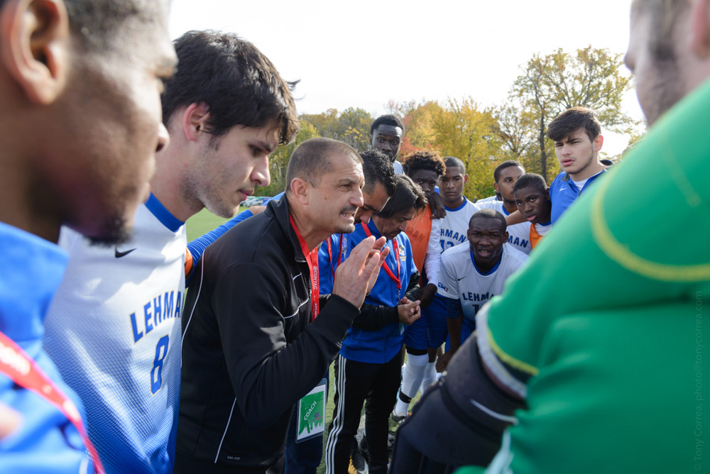 Lehman men's soccer coach Toma Gojcevic has assembled a dominant program that has the Lightning thinking 'dynasty' as they go for their third straight title.