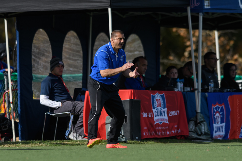 Toma Gojcevic hopes for a third straight trip to the title match for his Lehman College men's soccer team.