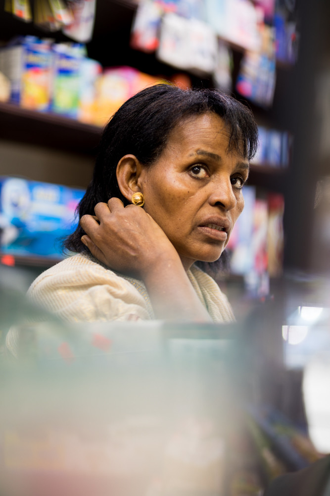 Ledetu Ghebremedhin says business has suffered at Cool N Cozy, the bodega she runs with her husband on Bedford Park Boulevard, after they stopped selling tobacco products in July. Tobacco sales make up about 20 percent of their gross income, Ghebremedhin says. City officials told the couple last week they would back off a bit, and allow tobacco sales to resume.