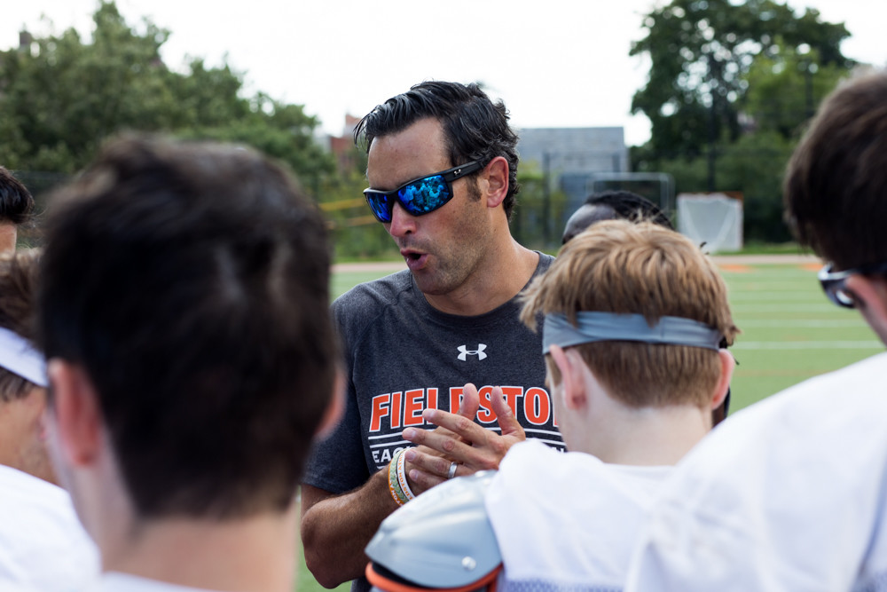 Fieldston football coach Gus Ornstein thinks his team's future is so bright, he has to wear shades.