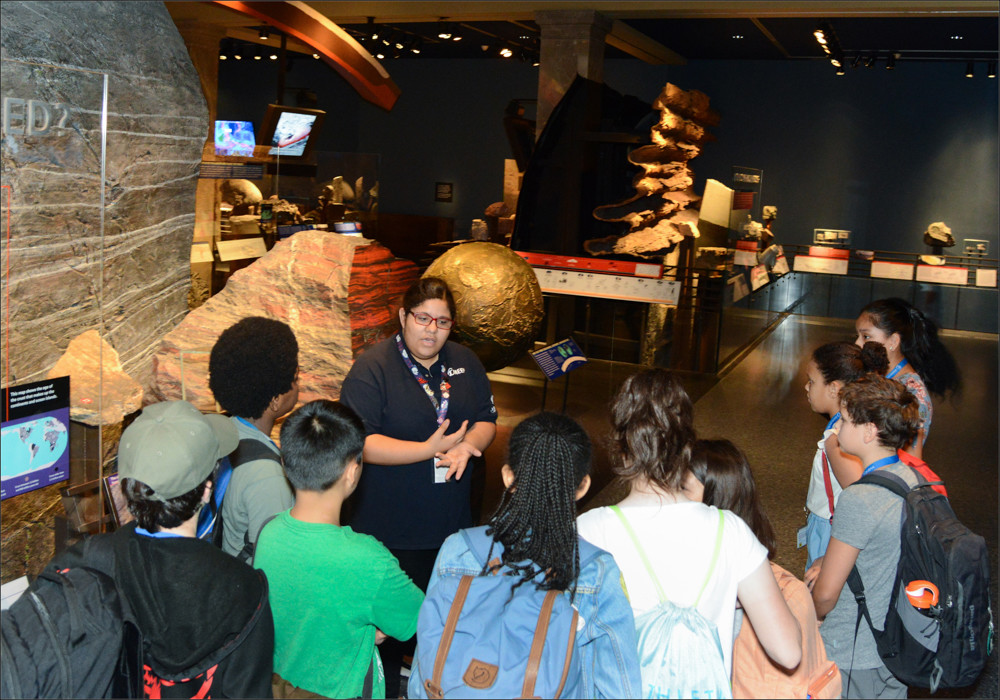 The American Museum of Natural History's Museum education and employment program gives students the opportunity to work as tour guides over the summer.