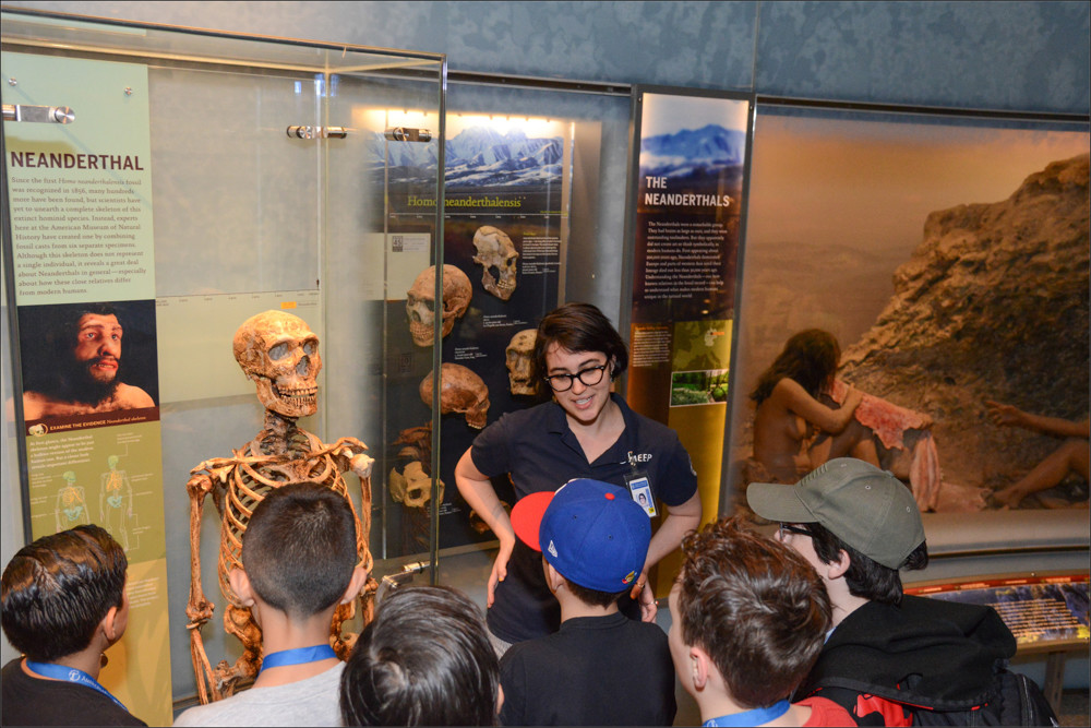 Budding tour guides don't have to look further than the American Museum of Natural History, which shows students the ropes of working as a tour guide through its museum education and employment program, colloquially known as MEEP.