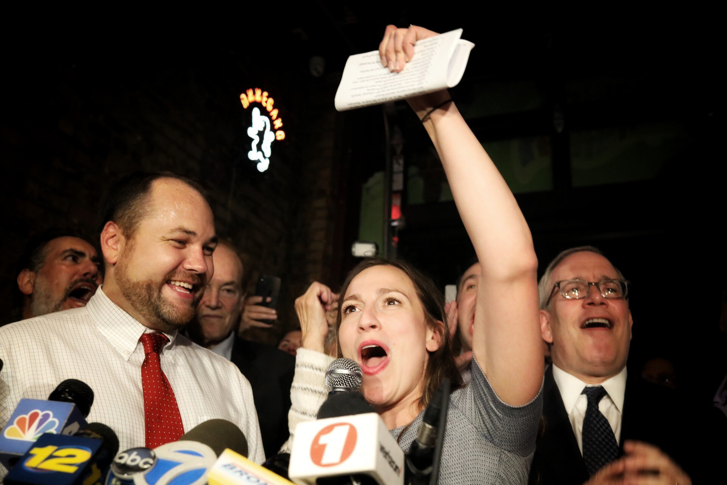 Alessandra Biaggi declares victory in her Sept. 13 primary race against state Sen. Jeffrey Klein.