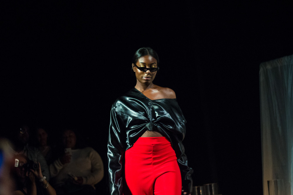 Fashion model Vanessa Rawls works the catwalk at The Point for Edwin Reyes' third fashion show Sept. 14. The show not only highlighted Puerto Rican culture but also raised funds for relief efforts on the island.