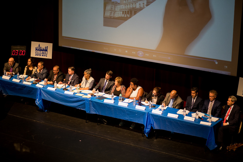 The city council's charter review commission held a public comment session at Lehman College on Sept. 12.
