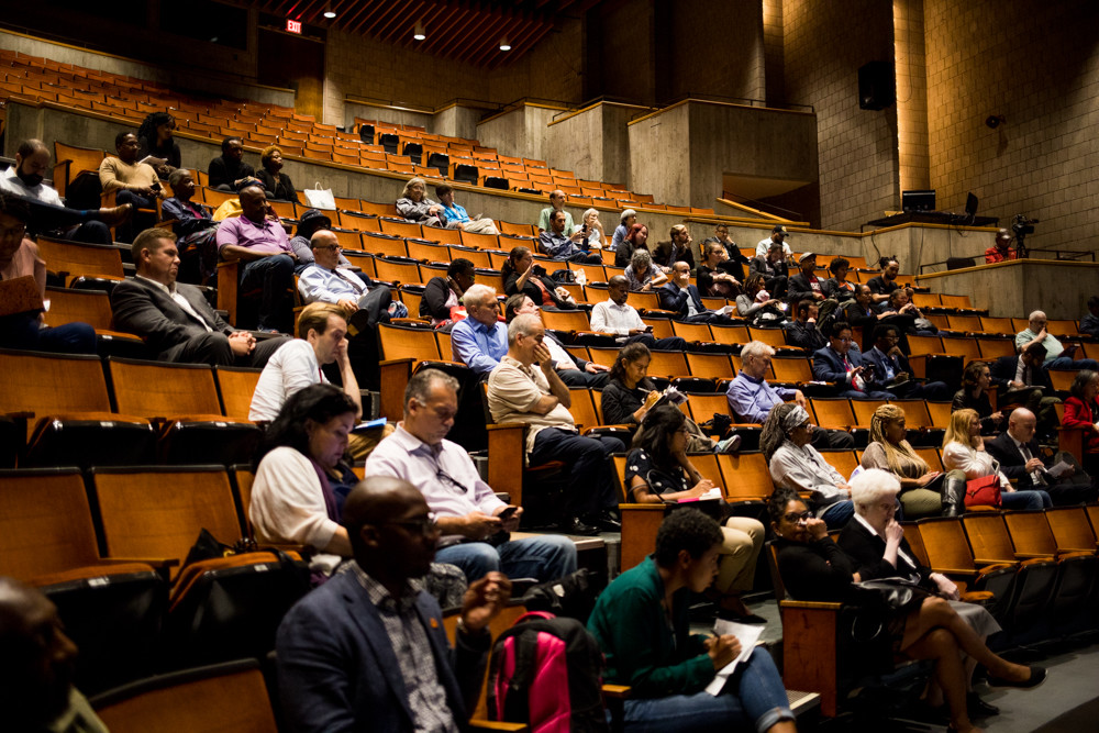 While a public comment session for a review of the city charter did not pack the house at Lehman College's Lovinger Theater, it did bring together people who sought to introduce a variety of changes, including an elected civilian complaint review board and term limits for community board members.