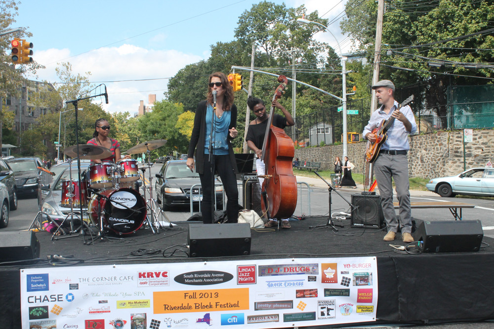The jazz band Alma Micic Quartet takes the stage at the South Riverdale Block Festival in 2016. Sponsored by Kingsbridge Riverdale Van Cortlandt Development Corp., this year's Johnson Avenue block party was cancelled just ahead of its Sept. 16 date, just days after state Sen. Jeffrey Klein's primary loss.