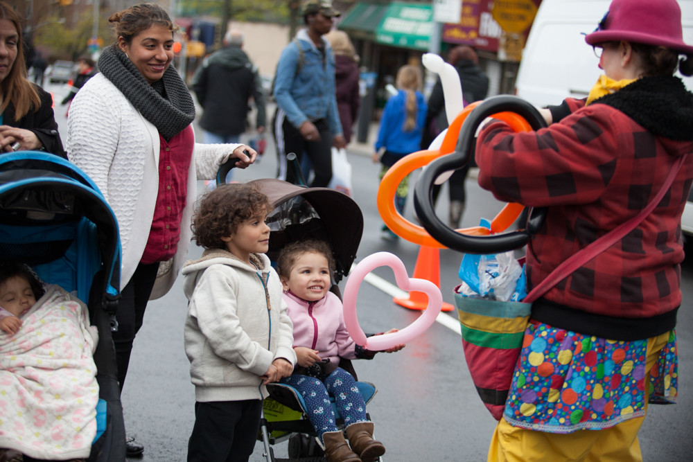 Kids at the South Riverdale Block Festival in 2016 enjoy balloon-shaped hearts. Sponsored by the Kingsbridge Riverdale Van Cortlandt Development Corp., this year's Johnson Avenue celebration was all set to take place on Sept. 16, but cancelled with little notice just days before.