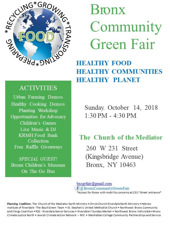 Bronx Community Green Fair Healthy Food, Healthy Communities