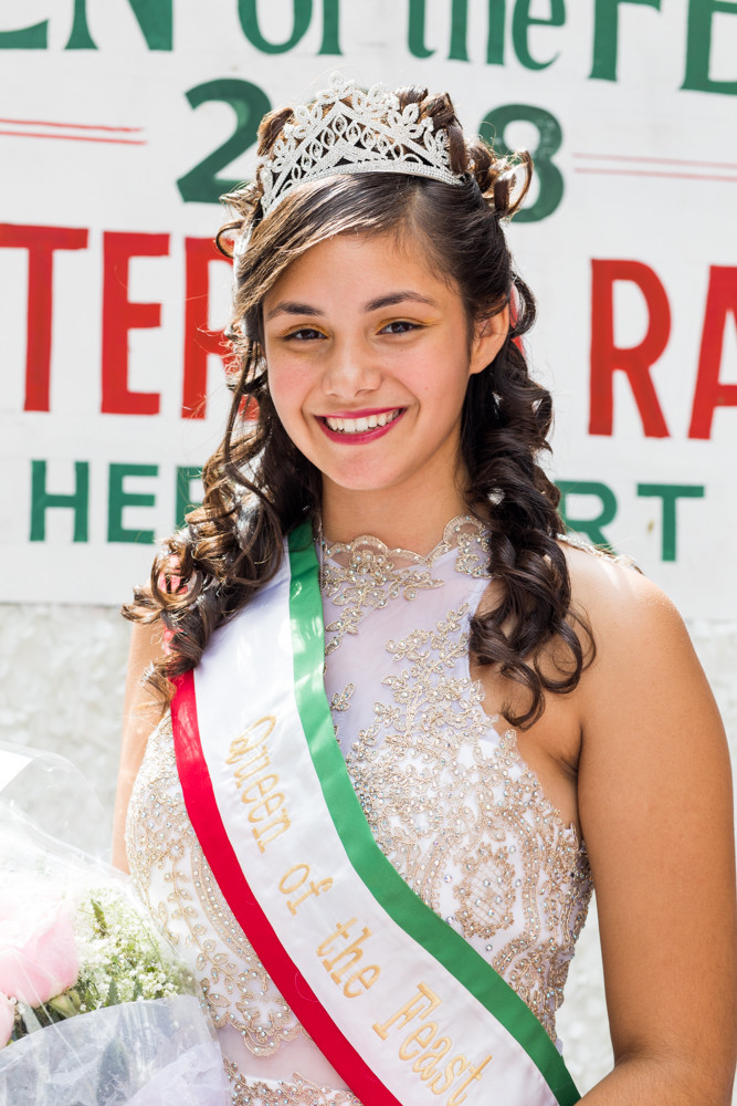 Marieteresa Porcher hails from an Italian-American family, and has the distinction of serving as this year's Queen of the Feast at the Feast of San Gennaro, an annual celebration of Italian heritage in Little Italy. Porcher is a Girl Scout from Riverdale, and is the first in her family to be Queen of the Feast.