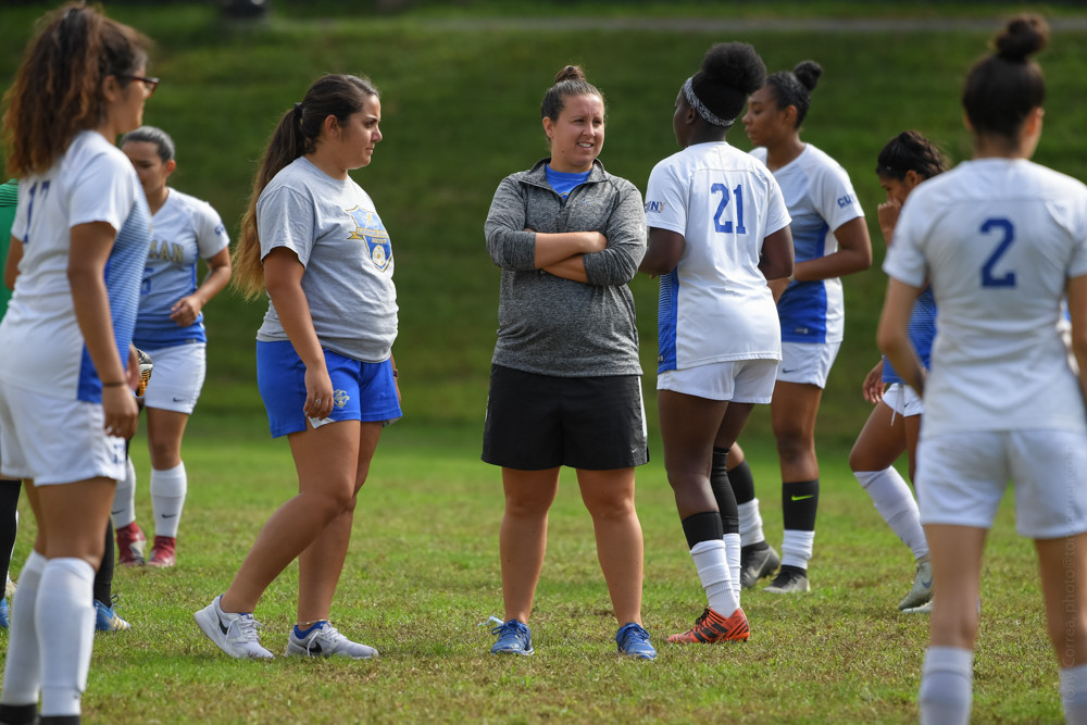 Lehman women's soccer coach Casey Melilli may be surrounded with a lot of new faces this season, but so far her usual winning ways have remained.