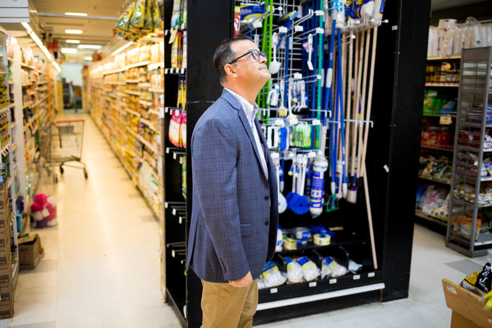 Councilman Andy Cohen takes a walking tour of the Key Food in Skyview Shopping Center on Riverdale Avenue.