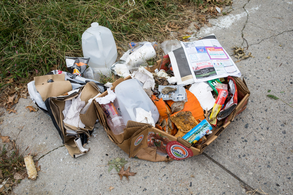 Loose trash sits on the ground next to Washington's Walk, among a host of problems in the area spanning Reservoir Avenue between Sedgwick and Goulden avenues. Some residents say illegal barbecuing has become a major nuisance during warmer months, spawning a litany of public health, safety and quality of life issues, including noise, smoke and rats.