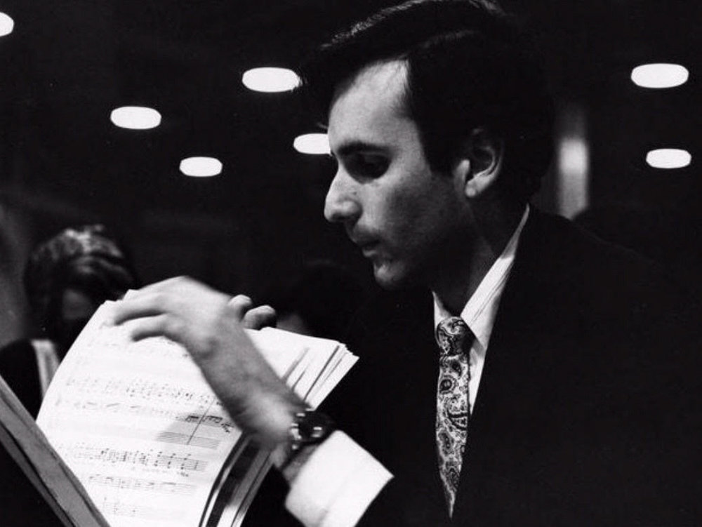 Former Riverdale resident Stanley Silverman began his music career working with the New York Philharmonic, the Boston Symphony Orchestra, and The Chamber Music Society at Lincoln Center on a regular basis. Here Silverman ruffles through music notes at Lincoln Center in 1966.