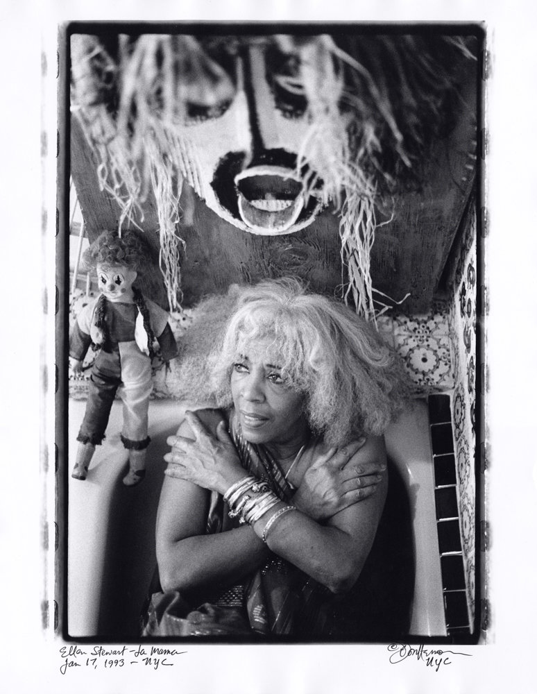 Ellen Stewart, founder of the La Mama Experimental Theatre Club, chose to remain clothed when Don Herron photographed her in her tub on Jan. 17, 1993. An exhibition of Herron's series 'Tub Shots' is on display at Daniel Cooney Fine Art through Nov. 3.