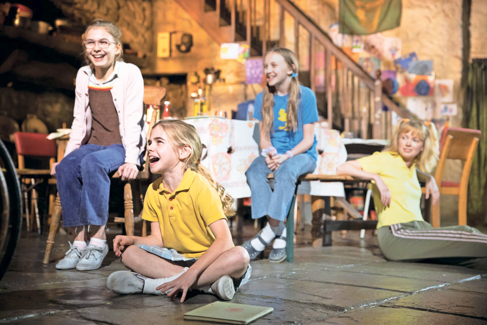 Some young actors come to the Broadway stage like Brooklyn Shuck, left, Matilda Lawler, Willow McCarthy and Carla Langley. They play the Carney children in 'The Ferryman,' a family caught in the middle of 20th century Irish-English conflicts.