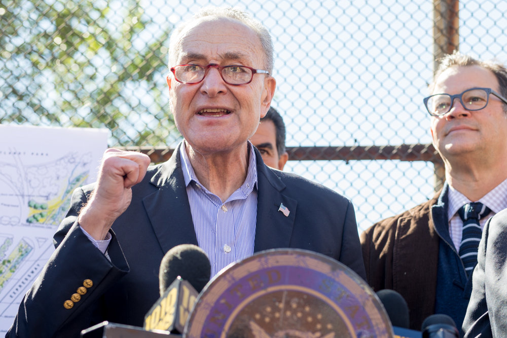 U.S. Sen. Charles Schumer calls on CSX Corp., to come back to the negotiating table regarding a mile-long strip of land it owns between Van Cortlandt Park South and West 230th Street that was once a part of the Old Putnam rail path. The city wants to buy the unused property and turn it into a greenway, but CSX reportedly walked away from negotiations after an independent appraiser — mutually agreed upon by the city and CSX — named a price.