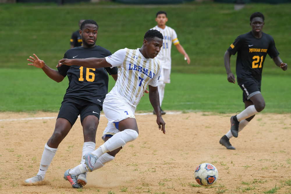 Marcus Folks picked a great time to score his first goal of the season, helping Lehman knock off City College of New York in a must-win game last week.