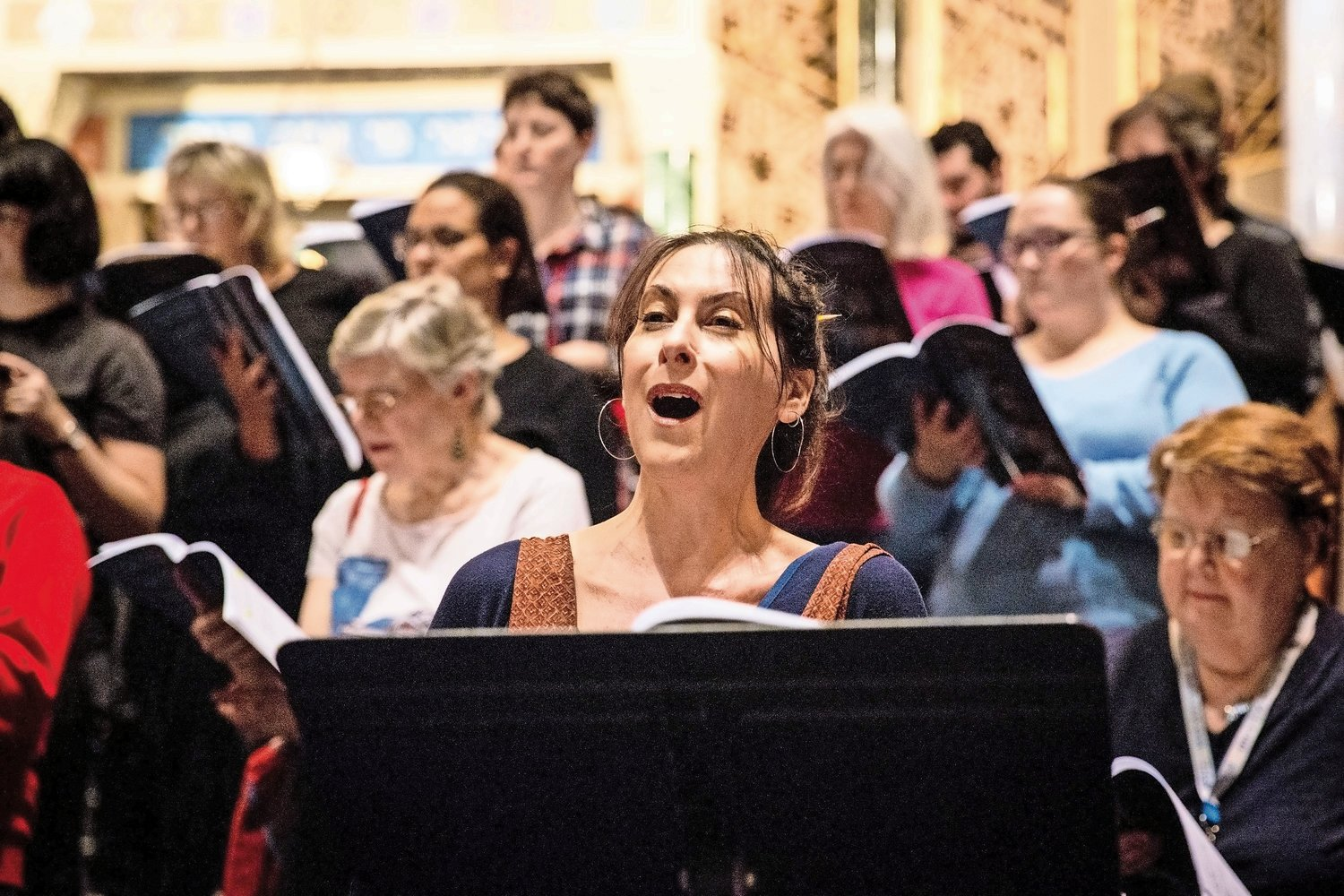 Ilana Davidson, a Riverdale resident, sings her solo part in the rehearsal of 'Annelies,' a concert featuring excerpts from 'The Diary of Anne Frank.'