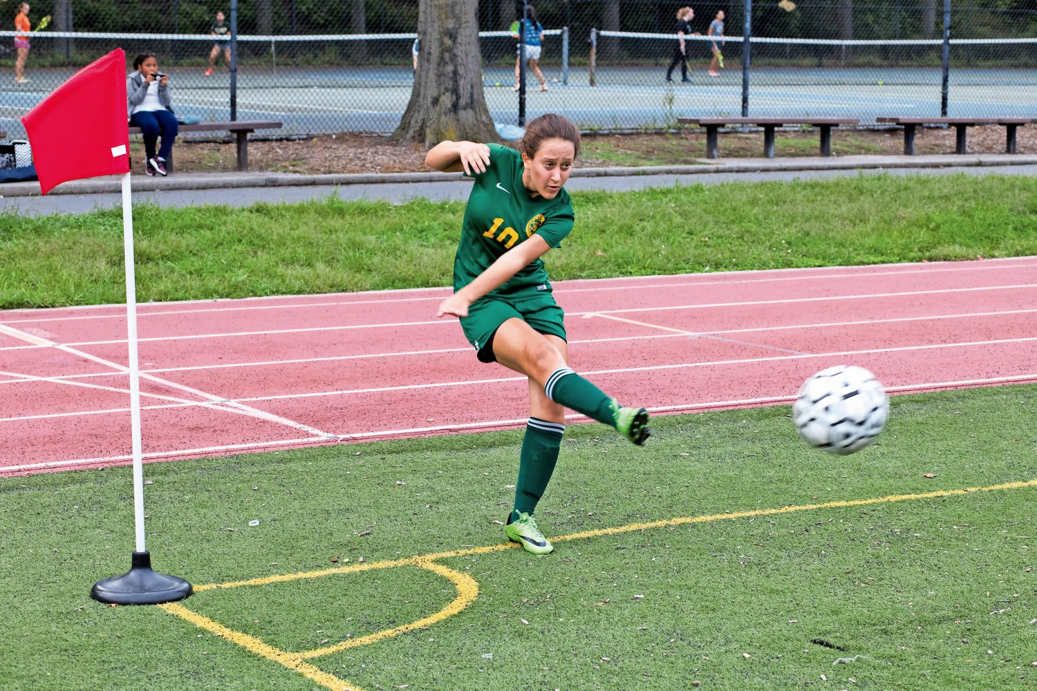 Bronx Science junior Sofia Mahairas turned in a stellar year, but saw her Wolverines' season cut short in the PSAL playoffs last week.