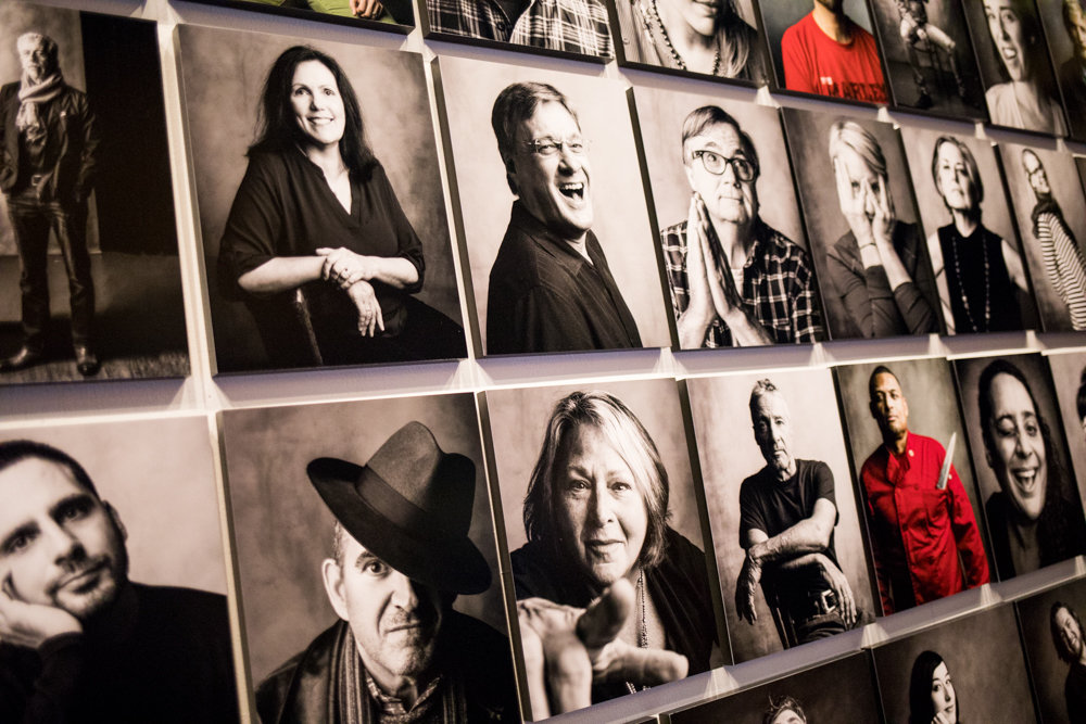 The majority of 'An Beal Faces,' a portrait series by Robert Presutti, is in black-and-white, but a few of the regular customers and employees he photographed looked better in color. 'An Beal Faces' is on display through Dec. 10.